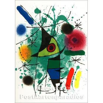 Joan Miró - Der Singende | Taurus Kunstkarte