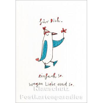 Wegen Liebe und so | Postkarte von karindrawings