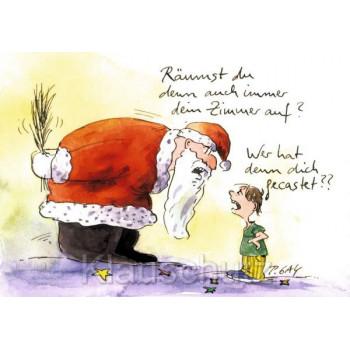 Peter Gaymann Weihnachtskarten - Räumst du denn auch immer dein Zimmer auf?