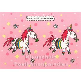 SkoKo Wimmelbild Postkarte Einhorn Rätsel