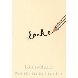 Buntstift Spitzer Doppelkarte - Danke