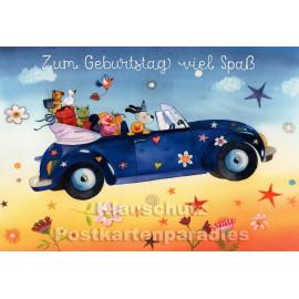 Taurus Doppelkarte für Kinder - Zum Geburtstag viel Spaß