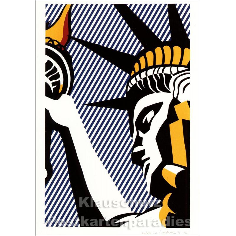 Taurus Kunst Postkarte | Roy Lichtenstein - I live Liberty