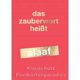 Cityproducts Postkarte mit goldfarbener Lackierung: Das Zauberwort heißt alaaf