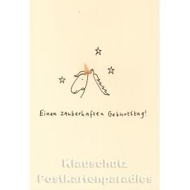 Buntstift Spitzer Doppelkarte - Zauberhaft