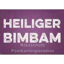 Retro Sprüche Sparset mit 10 lustigen Postkarten - Heiliger Bimbam