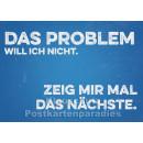 Retro Sprüche Sparset mit 10 lustigen Postkarten - Das Problem will ich nicht