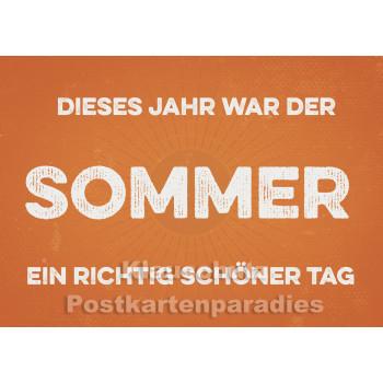 Retro Sprüche Sparset mit 10 lustigen Postkarten - Der Sommer