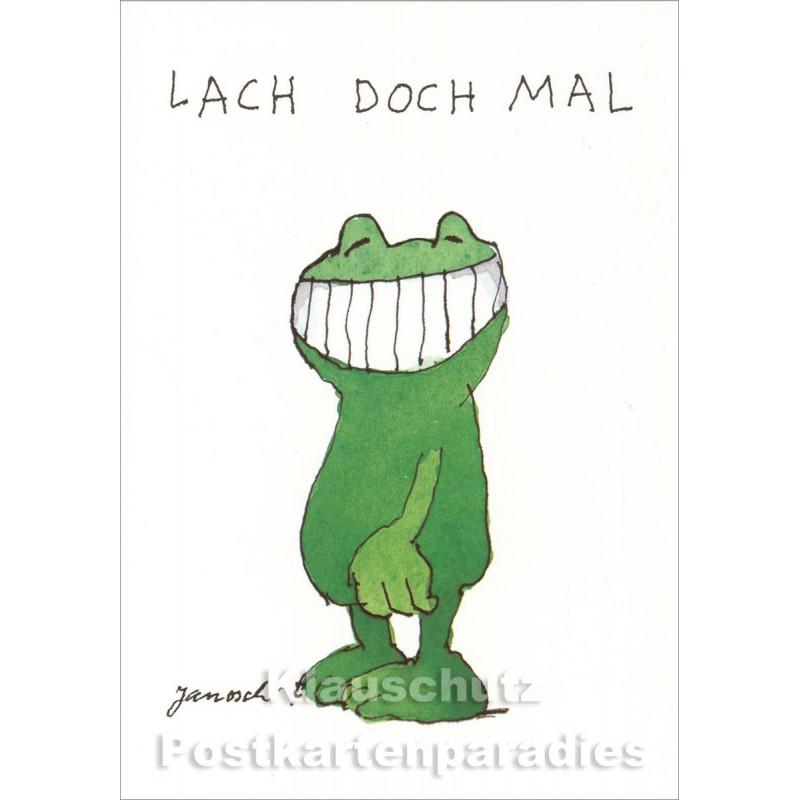 Lustige Doppelkarte von Janosch (Little Tiger) - Lach doch mal!