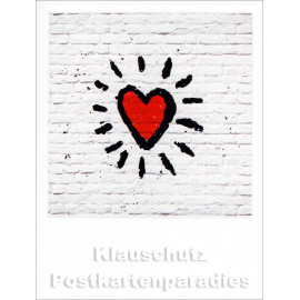 Taurus Pola Doppelcard | Rotes Herz -  Graffiti Heart