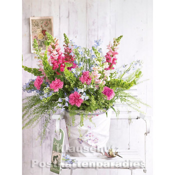 Postkartenbuch von Rannenberg mit 15 Karten | Blumen Bouquets - Bunter Blumenstrauß