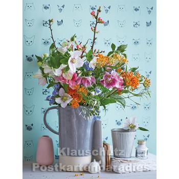 Postkartenbuch von Rannenberg mit 15 Karten | Blumen Bouquets - Bouquet Printemps