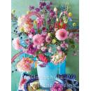 Postkartenbuch von Rannenberg mit 15 Karten | Blumen Bouquets - Farbenfroher Blumenstrauß