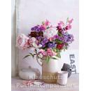 Postkartenbuch von Rannenberg mit 15 Karten | Blumen Bouquets - Blumenstrauß im Tonkrug
