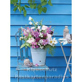 Postkartenbuch von Rannenberg mit 15 Karten | Blumen Bouquets - Sommerstrauß