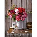 Postkartenbuch von Rannenberg mit 15 Karten | Blumen Bouquets - Rosenbouquet