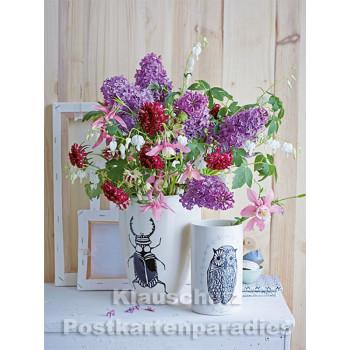 Postkartenbuch von Rannenberg mit 15 Karten | Blumen Bouquets - Blumenstrauß mit Flieder