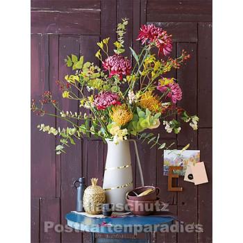 Postkartenbuch von Rannenberg mit 15 Karten | Blumen Bouquets - Herbstlicher Blumenstrauß