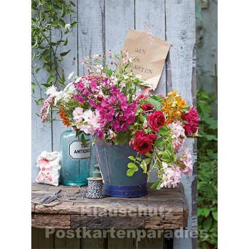 Postkartenbuch von Rannenberg mit 15 Karten | Blumen Bouquets - Bunter Gartenstrauß
