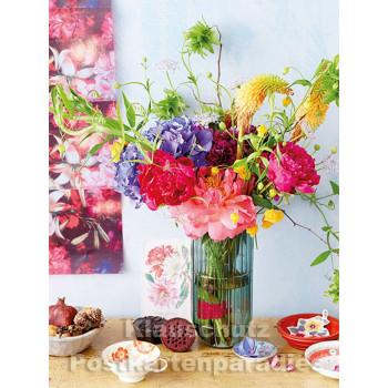 Postkartenbuch von Rannenberg mit 15 Karten | Blumen Bouquets - Frühsommer