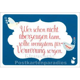 Lustige Mainspatzen Sprüche Postkarte: Für Verwirrung sorgen