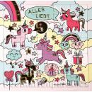 ActeTre Puzzlecard mit Einhörnern - Alles Liebe - mit Glückwunschkarte