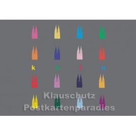 Kölner Dom / Kölsche Postkarte von Cityproducts