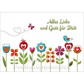 Alles Liebe und Gute für Dich - SkoKo Geburtstagskarte