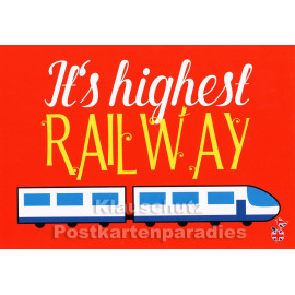 It`s highest Railway | Mainspatzen Denglish Karte
