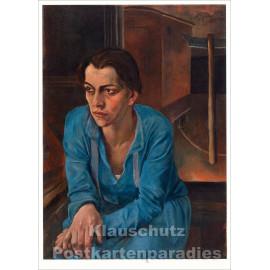 Taurus Kunst Postkarte | Rudolf Schlichter | Portrait Helene Weigel