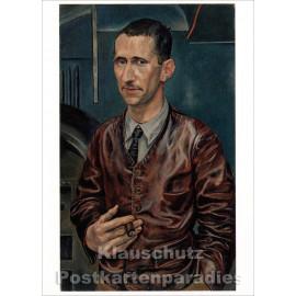 Taurus Kunst Postkarte | Rudolf Schlichter | Portrait Berthold Brecht