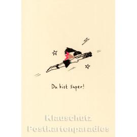 Buntstift Spitzer Doppelkarte von Discordia - Du bist super!