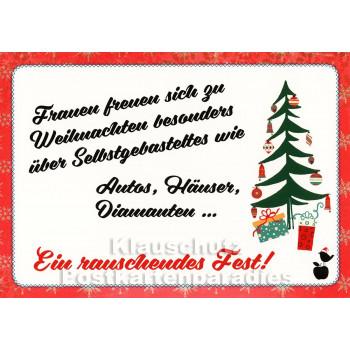 Ein rauschendes Fest   Mainspatzen Postkarte Weihnachten