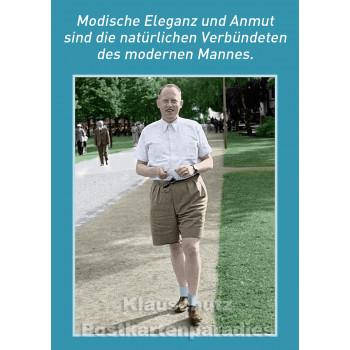 Postkartenparadies Sprüche Postkarte - Modische Eleganz