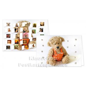 Rannenberg Adventskalender Postkarte - Teddy - Detailbilder