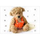 Rannenberg Adventskalender Postkarte - Teddy