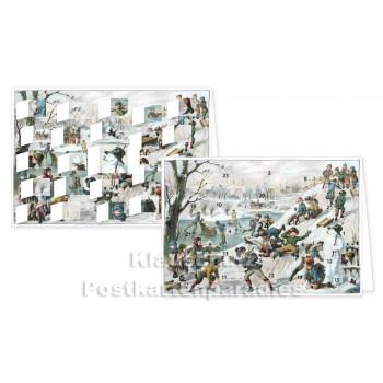 Rannenberg Adventskalender Postkarte - Winterfreuden - Detailbilder