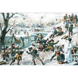 Rannenberg Adventskalender Postkarte - Winterfreuden