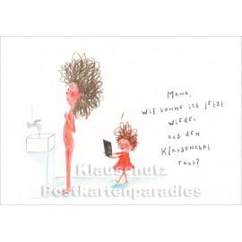 Klassenchat | Mütter Postkarte