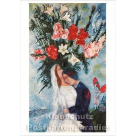 Doppelkarte Hochzeit | Marc Chagall - Brautpaar