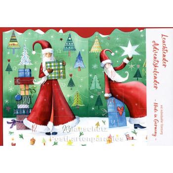 Leuchtender Adventskalender von Taurus - Weihnachtsfrau| Vorderseite