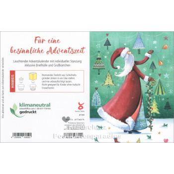 Leuchtender Adventskalender von Taurus - Weihnachtsfrau | Rückseite