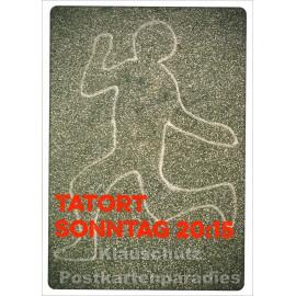 Discordia / Edition Bo Postkarte - Tatort Sonntag 20:15
