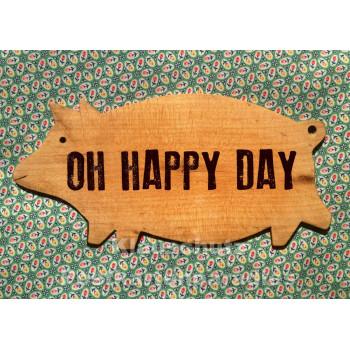 Bizarr / Discordia Postkarte - OH happy day