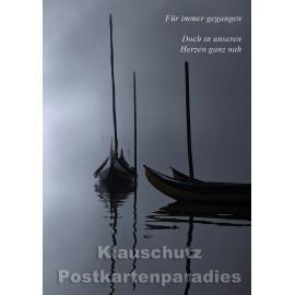 Postkartenparadies Klappkarte Trauer - Für immer gegangen. Doch in unseren Herzen ganz nah.