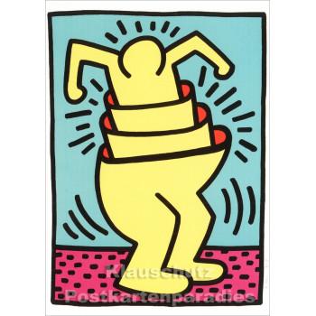 Taurus Kunstkarte | Keith Haring | Untitled (Cup Man)