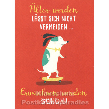 Älter werden ... Hund | SkoKo Little Greetings Midi-Doppelkarte