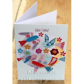 Alles Liebe! - Lasergestanzte Doppelkarte von Discordia
