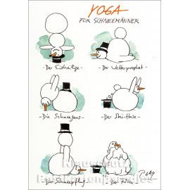 Yoga für Schneemänner | Peter Gaymann Weihnachtskarte von Discordia