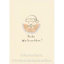 Buntstift Spitzer Doppelkarte Weihnachtsmann - Frohe Weihnachten